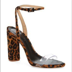 SCHUTZ Elenita genuine calf hair sandal